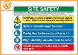 플라스틱 소통량 경고 표시를 인쇄하는 관례