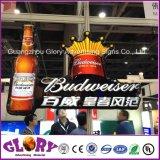 De acryl LEIDENE van de Fles van het Bier van de Reclame 3D Lichte Doos van Tekens
