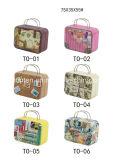 Bewegliche Geschenke/Schmucksache-kleiner Zinn-Kasten