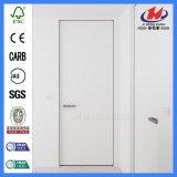 Puerta blanca de madera sólida de la losa lisa de la tapa redonda 2-Panel