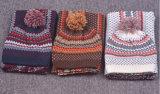 Шарф Beanie шарфа печатание снежка зимы теплым связанный комплектом (SK181S)
