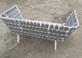 Meubilair 2 van het Frame van het aluminium Geweven OpenluchtRiem de Bank van de Zetel