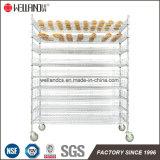 9 couches de pain de boulangerie faisant cuire la crémaillère d'aménagement de fil de mémoire en chrome plaqué, homologation de NSF