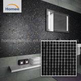 Parete decorativa lucida interna di vetro delle mattonelle di mosaico del nero quadrato di riserva di figura