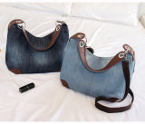Dame Bag Designer Ladies Handbags Grote Beurzen Jean Denim Tote (WDL0957)