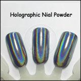 Laser-Nagel-Kunst-Funkeln-Flocken, ganz eigenhändig geschriebes Regenbogen-Pigment, Holo Puder