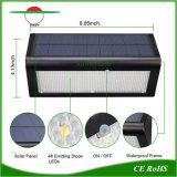 マイクロウェーブレーダーセンサー800lumenの屋外Solar Energy壁ライトは防水する