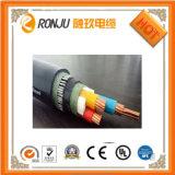 XLPE aisló el cable de transmisión forrado PVC acorazado de la cinta de acero Yjv22