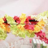Flor artificial das glicínias da videira da flor da decoração do Rattan da suspensão de parede