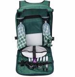 Zaino su ordinazione del cestino di picnic dello scompartimento del dispositivo di raffreddamento con il sacchetto isolato