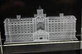 レーザーの彫版3Dの写真の水晶立方体3Dのレーザーによって刻まれる水晶立方体のためのブランク水晶立方体