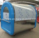 Camion mobile degli alimenti a rapida preparazione dell'acciaio inossidabile
