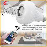 E27 B22 24의 키 원격 제어 지적인 램프를 가진 지능적인 RGB 무선 Bluetooth 스피커 전구 음악 전구 램프 전화 APP 원격 제어 램프 최신 인기 상품