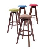 Barstool 회색 직물, 대중음식점 가구 하이바 의자 나무 (KL S05)
