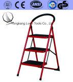 3つのステップの世帯の鋼鉄梯子