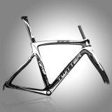 切断カラー無光沢カーボン道は固体ロゴのフレームを自転車に乗る
