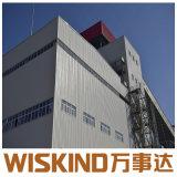 Almacén prefabricado del marco de acero del bajo costo de Wiskind Q235 Q345