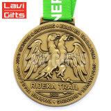 Förderung-freies Beispielkundenspezifisches Metallgold geprägte Medaille mit Farbband