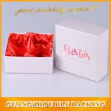 Caixa de presente branca de dobramento lisa do cartão do presente da sapata de bebê que empacota com tampa (BLF-GB548)