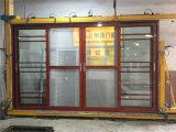 주문을 받아서 만들어진 크기 이중 유리를 끼우는 발코니 알루미늄 미닫이 문