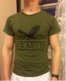 T-shirt d'impression de broderie de coton d'hommes avec personnalisé