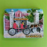 Magneet van de Koelkast van Polyresin van de Gift van de Herinnering van de Vlekken van de Toerist van Bhamas 3D