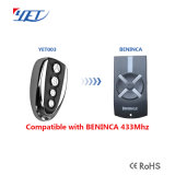 Utilisation universelle Télécommande RF Beninca remplacer