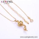 44709 Formluxuxzircon-Schmucksache-Halskette überzogen mit Gold 18K