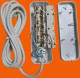 Белое гнездо выхода цвета 3 с включено-выключено переключателем 3G0.75X3m (E8003ES)