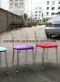 High-Grade embalaje suave de la silla de plástico contratado diseñador europeo el café de cristal sillas sillas Sillas clubes recreativos (M-X3456)