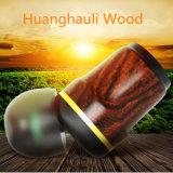 Hi-fi tressé des basses profondes Huanghauli intra-auriculaires écouteurs en bois pour iPhone