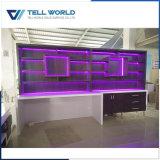 상업적인 후에 가구 RGB LED 삽입 선반 내각 디자인