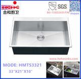 Customized Topmount cozinha artesanal em aço inoxidável Lavar Loiça