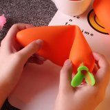 Koreanischer Briefpapier-Feld-Karikatur-Karotte-Bleistift-Beutel-Schule-Zubehör-Bleistift-Beutel-Kind-Reißverschluss-Bleistift-Beutel