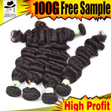 6A Индийского Virgin волосы ослабленные волна /человеческого волоса плетение