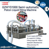 Máquina de rellenar líquida del pistón semiautomático para la espuma del baño (G2WYD1000)