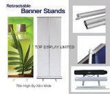Toile de fond d'exposition d'aluminium Afficher ruban Magic Pop up Stand de bannière escamotable