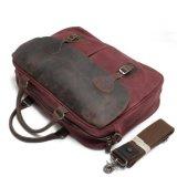 Crazy Horse sac à main en cuir de couleur rose toile Messenger Bag Sac pour ordinateur portable (RS-82055K)