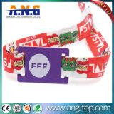 bracelet du tissu 13.56MHz tissé par IDENTIFICATION RF avec l'impression personnalisée de logo