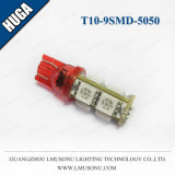 T10 9SMD 5050 LEDの表示器の球根の白いCanbus LEDの球根