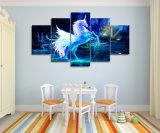 HD imprimió la lona Mc-022 del cuadro del cartel de la impresión de la decoración del sitio de la pintura del grupo del caballo del unicornio de los cuadros