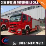 El tipo de oferta 12000L Sinotruck extintor Espuma Polvo del tanque de agua del coche de bomberos Fighting