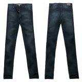 Senhoras' Jeans com bigodes (JE-GCIN106)