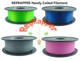 Recién en espiral Reprapper filamento 3D.