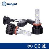 자동 할로겐 보충 전구 LED 자동 가벼운 헤드라이트 보충 장비, 8000 루멘, 크리 말 Xhp50 H7 9005 9006