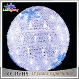 Sfera chiara impermeabile di natale della decorazione 3D della ghirlanda LED del PVC