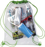 Le petit sac en nylon de cadeau de cordon de maille de tissu promotionnel le plus neuf