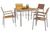 Современный дизайн открытый дворик столовая мебель деревянная садовая мебель (D540; S240)