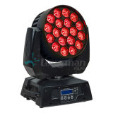 LED de iluminação de movimentação de lavagem de Zoom