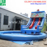 安く14m*5m*6m子供のための膨脹可能な水スライド